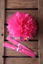 10x Pompoms - 25cm - Fel roze (ST103)