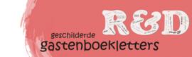 Gastenboek letters - In kleur naar wens (2x letter, 1x figuur)