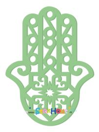 Muurfiguur 95cm Hand van Fatima (Hamsa) (bijv. Vintage Groen) (ST077)