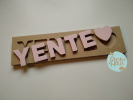 Naampuzzel 0-5 letters. Bijv. 'Yente'