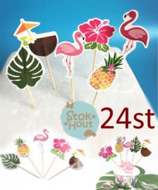 Cupcake decoratie 'Beachparty' - 24st (ST179)