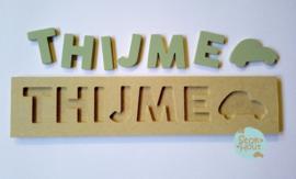 Naampuzzel 6-8 letters. Bijv. 'Thijme'