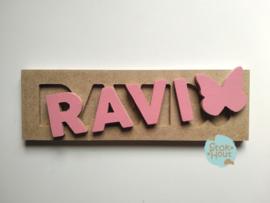 Naampuzzel 0-5 letters. Bijv. 'Ravi'