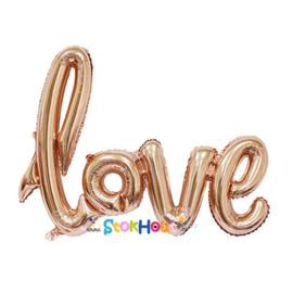 Love Folieballon - Rosé Goud - 100cm (ST057)