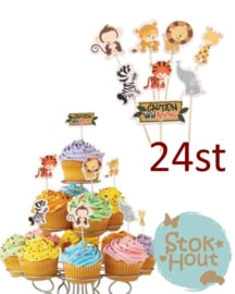 Cupcake decoratie 'Jungle' - 24st (ST185)