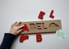 Naampuzzel 0-5 letters. Bijv. 'Abel'