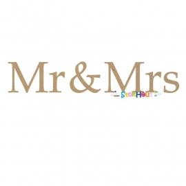 MDF figuur: Mr & Mrs (30cm)