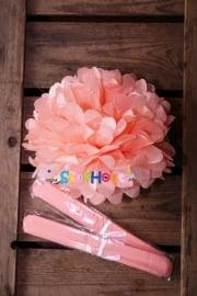 10x Pompoms - 25cm - Zalm roze (ST102)