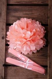 Pompom - 25cm - Zalm roze (ST102)