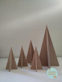 MDF 3D Kerstboom - 15cm (M337)