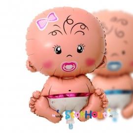 Baby Ballon - Meisje - 65cm (ST043)