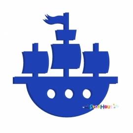 Muurfiguur Piratenschip (20cm)