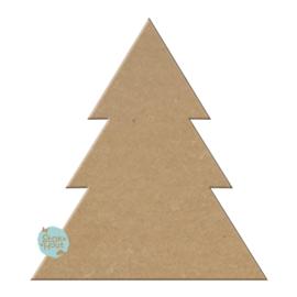 MDF Figuur `Kerstboom #1` 10cmx6mm | Koopjeshoek