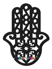 Muurfiguur 95cm Hand van Fatima (Hamsa) (bijv. Zwart) (ST078)