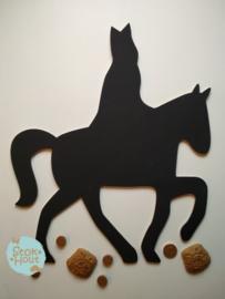 Krijtbord `Sint op paard` 50cmx6mm | Koopjeshoek
