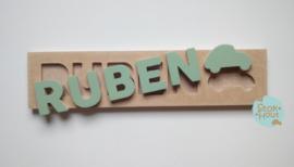 Naampuzzel 0-5 letters. Bijv. 'Ruben'