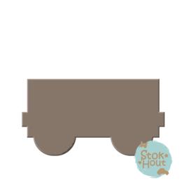 MDF figuur: treinwagon (M080)
