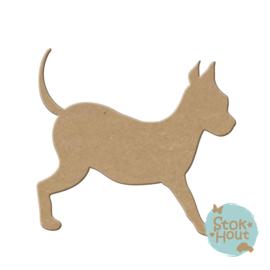 MDF figuur: Hond #4 (M233)