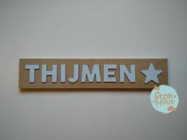 Naampuzzel 6-8 letters. Bijv. 'Thijmen'