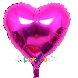 Hart ballon - Rose - 45cm (ST035)
