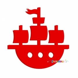 Muurfiguur Piratenschip (30-50-75-100cm)