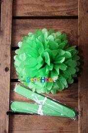 10x Pompoms - 25cm - Gras groen (ST111)