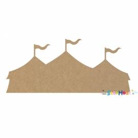MDF figuur: Circus tent (30-50-75-100cm)