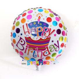 Verjaardagsballon 'Happy Birthday' - 45cm (ST073)