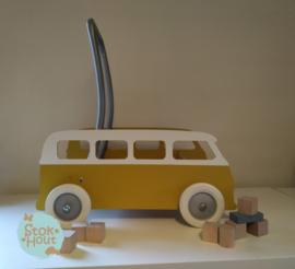 """Loopkarretje """"VW busje"""" (bijv. Retro Geel) (ST132)"""