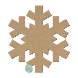 MDF figuur: Sneeuwvlok #2 (M042)