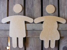 WC bordjes: Man & Vrouw