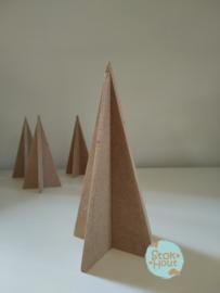MDF 3D Kerstboom - 15cm (M337) | Koopjeshoek