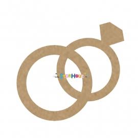 MDF figuur: Trouwringen (30-50-75-100cm)