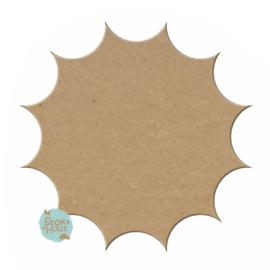 MDF Figuur `Zon` 10cmx6mm | Koopjeshoek