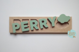 Naampuzzel 0-5 letters. Bijv. 'Perry'