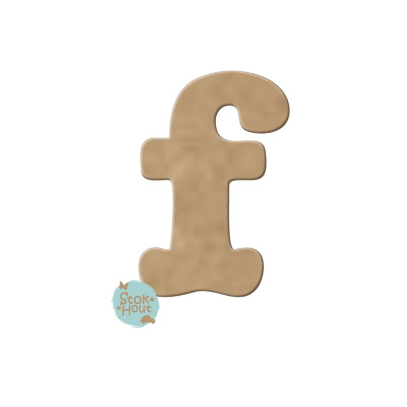 MDF Letter 'f' 10cmx6mm | Koopjeshoek