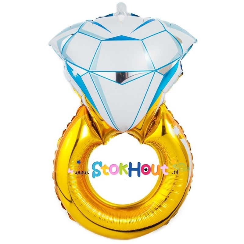 Diamanten ring ballon - 85cm (ST032)