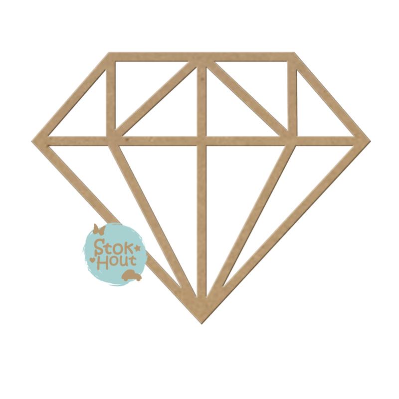 MDF Geometrische figuur - Diamant M372
