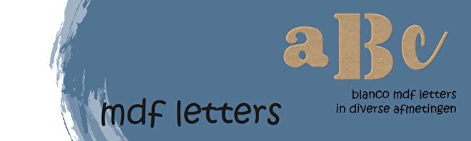 Ga naar onze MDF letters (DeMDFwinkel)