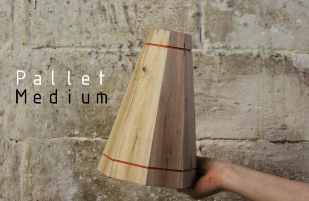 RESCUED! Palletlamp Medium blank hout