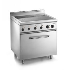 Keramische kookplaat met elektrische oven