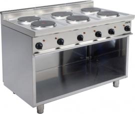 Elektrische kooktafel  | Fornuis 6 x 2,6 kW