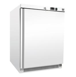 wit stalen koeling 200 liter, statisch gekoeld met ventilator