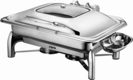Inductie Chafing Dish met zelfsluiting deksel 1/1 GN