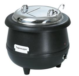 Warmhoudketel | Soeppan Gourmet, 10L, zwart