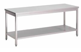 RVS werktafel met onderblad, 1100(l)x700(d)x850(h)mm