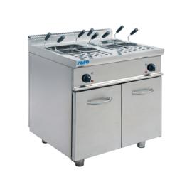 Pastakoker 2x28 Liter Elektrisch + Onderstel