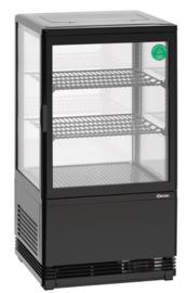 Opzet koelvitrine, Mini-koelvitrine Zwart 58 Liter