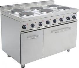 Elektrisch fornuis met elektrische oven 6 elektrische  kookplaten