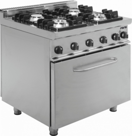 Gasfornuis met elektrische oven